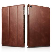 "Ultrathin Cowhide Genuine Leather Case for iPad 9.7 inch 2017 Real Leather Retro Business Stand Smart Cover for Apple iPad 9.7""(China)"