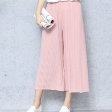 17 Summer Female Wrinkle High Waist Loose Thin Section Wide Range Of Chiffon Legs long Leg Pants Korean Pant Fashion Sexy 8 Co(China)