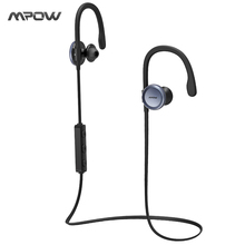 Mpow updated bluetooth headphone IPX4-rated sweatproof stereo headphones bluetooth 4.1 wireless sports earphones with microphone(China)