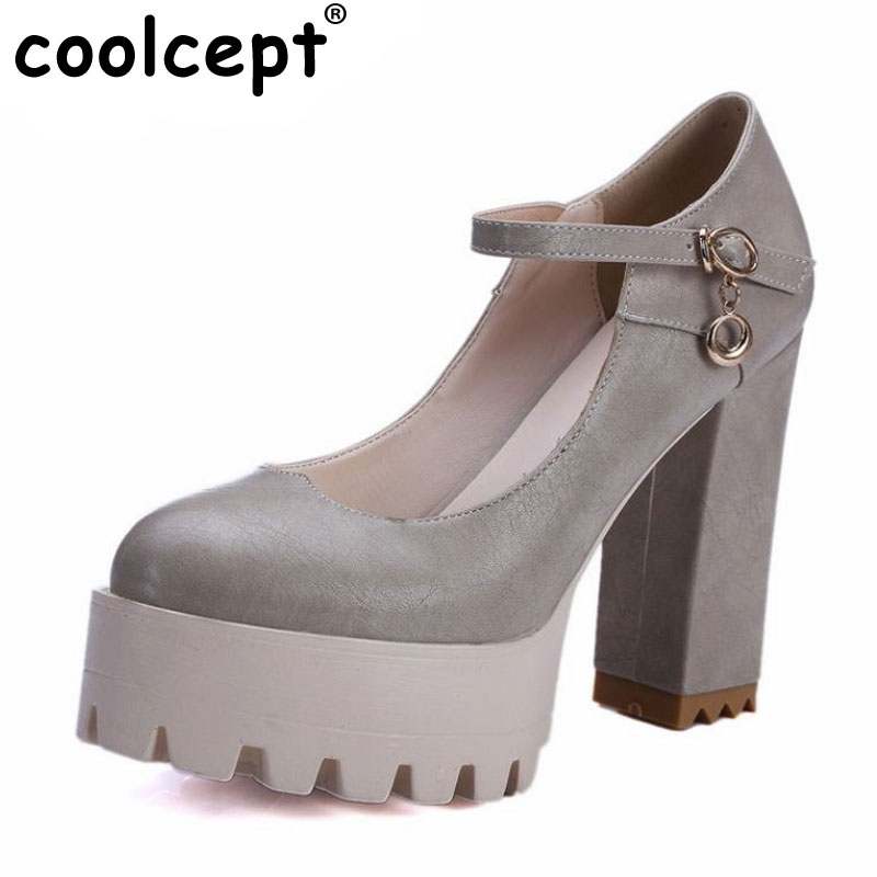 women square high heel platform shoes ankle strap dress shoes female fashion brand style pumps heels shoes size 32-42 P22764<br>