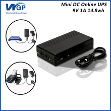 Portable 14.8WH household cctv mini dc ups 9V 1A wifi modem micro ups for voip system(China)