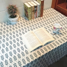 Cotton Linen Tablecloths Decorative Home Decor Table Cloth High Quality tablecloth Classical Geometric Leaf Printing