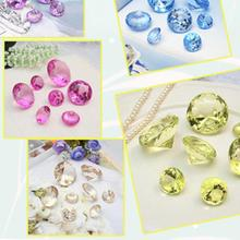 Acrylic Jumbo 30mm Gemstone Table Scatter Confetti Diamonds Wedding Table Deco 10pcs Limited Stock