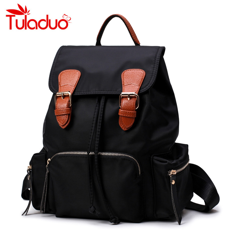 New Student College Waterproof Nylon Famous Luxury Brand Backpack Women Black Rucksack for School Back Girls Sac a Dos Femme<br><br>Aliexpress