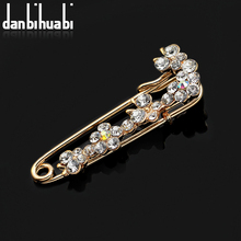 Brooch vintage brooch pins scarf pins and brooches for women rhinestone animal hijab pins badge animal  broches jewelry fashion