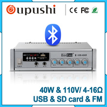Cheap Free freight mini audio system 40W USB SD card power amplifier set meal with ceiling speaker Music shop decoration(China)
