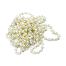 20m/roll Wedding Decoration Centerpieces Supplies 8mm Fishing Line Pearls Beads Chain Christmas Pearl Garland Decor