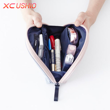 Fashion Mini Waterproof Travel Cosmetic Bag Small Women Makeup Case Cosmetic Organizer Storage Bag Hanging Sundries Zipper Pouch(China)
