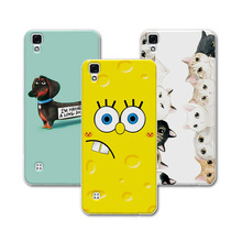 For LG X Power Soft Silicone Case Cover For LG X Power K210 K220 K220ds Case Bear Cartoon Painting Protector For LG X Power Case(China)