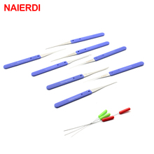 NAIERDI 12PCS Blue Lock Pick Broken Key Remove Auto Locksmith Tool Key Extractor Hardware Stainless Steel Handle DIY Tools(China)