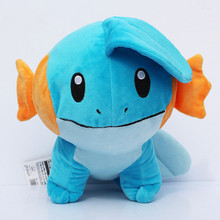 6'' 15cm Cute Anime Cartoon Mudkip Plush Toy Animal Soft Stuffed Doll Kids Birthday Gift