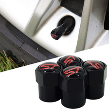 4pcs ST Emblem Car-Sticker Car Tire Valve Caps Sport Style for Ford Focus Fiesta Ecosport Kuga Mondeo Everest Accessory(China)