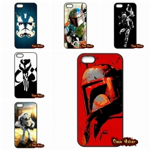 For Samsung Galaxy S2 S3 S4 S5 MINI S6 S7 Edge Plus iPhone 4 4S 5S 5 5C 6 6S Plus Star Wars 7 Boba Fett Phone Cover Case Fundas
