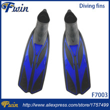 Swim fins high quality professional slivery adult diving fins diving footwear flippers for swimming free shipping