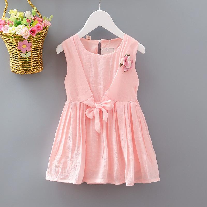 2017 Summer New Princess Baby Girl Dress kids Big Bow And Flower Girl Dress Children Clothing dress Girls Vestido Infantis<br><br>Aliexpress