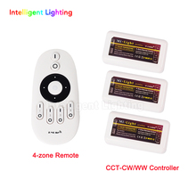 2.4G Dimmable LED RF Remote Control With 4 Channel + 3x RF ww cw controller(China)