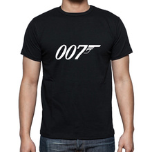 Summer New Brand Quality Movie Film James Bond 007 T Shirts Short Sleeve O Neck Fashion Cotton Male T-shirts(China)