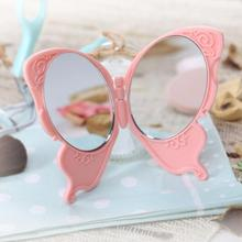 Portable Mirror Makeup Unbreakable Folding Beauty Portable Mini Double Creative Butterfly Makeup Mini Mirror A6