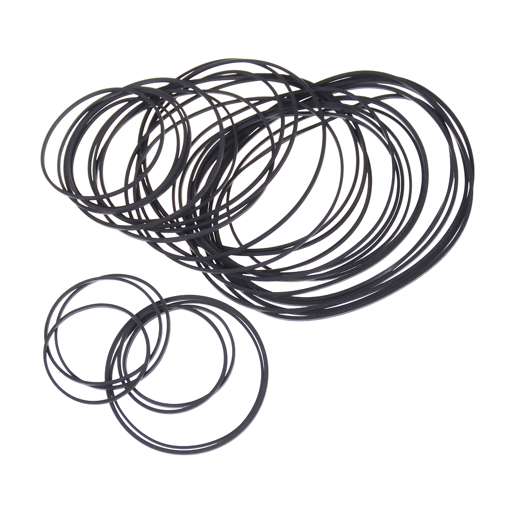 1Pack Engine Drive Belts For DIY Toy Module Car 30mm to 120mm Dia Black Rubber Small Fine Pulley Pully Belt