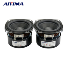 AIYIMA 2Pcs 3Inch Full Range Speakers 4Ohm 15W Speaker Subwoofer Tweeter HIFI Music FM Radio Home Video System Speaker(China)