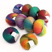 New Arrival 50g New Chunky Baby Wool Ball Rainbow Colorful Knitting Crochet Yarn Craft for Sewing DIY Cloth Accessories