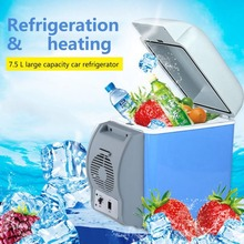 7.5L Portable Mini LargeCapacity Car Cooler&Warmer Heating Cooling 12V Electric Fridge Travel Refrigerator Box With Strap