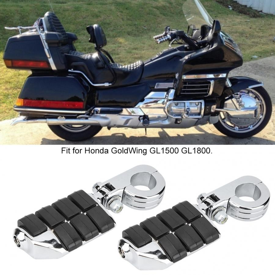 Black Anti-Vibrate Engine Guard Foot Pegs Clamps For Honda Gold Wing Goldwing 1200 1500 1800