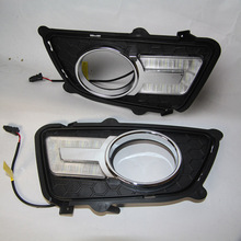 Daytime Running Lights DRL / For KIA Sportage 2008 2009 2010 / U Type LED  Warning Light / Car Day Driving Lamp Free Shipping