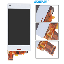 "4.3"" Black White Screen For Sony Xperia Z3 mini Compact D5803 D5833 Lcd Screen + Touch Digitizer, free shipping"