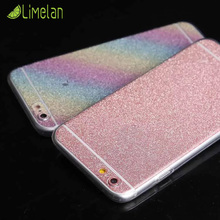 Fashion Luxury Glitter Shiny Full Phone Skin Sticker Case for iphone 5 5S SE 6 6s Plus 7 7Plus Sparkling Films protector Cover