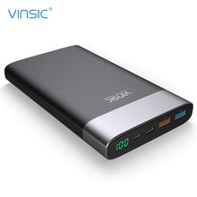 VINSIC VSPB303 QC 3.0 20000mAh Quick Charge Power Bank Type-C Micro USB Dual Input / Output Fast Charging