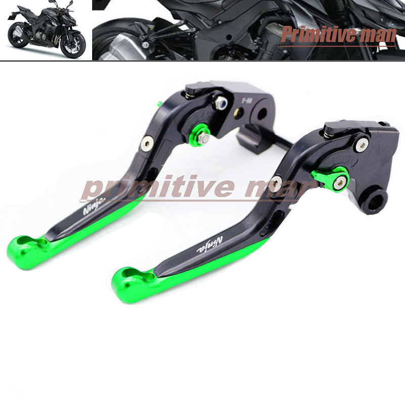 For KAWASAKI  Z1000 Z1000SX ZX-10R Z750R Motorcycle Accessories Adjustable Folding Extendable Brake Clutch Levers Black<br>