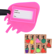 New Travel Accessories Watermelon Apple Cute Fruit Luggage Tag Suitcase Name ID Address Tags Fashion Silicon Label Bag Tag(China)
