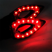 Multicolor New 1 pair of Universal LED Motorcycle Turn Signal Indicators Lights lamp car accessories car-styling 2017 fashion
