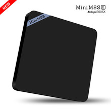New MINI M8S II TV BOX 4K Amlogic S905X Android 6.0 Quad Core HD 2G 8GB Smart Media Player 2.4GHz WIFI BT 4.0 Set Top Box(China)