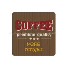 4Pcs/Lot Customized Coffe More Energies Sign Cork Wood Beverage Coaster Table Drink Tea Cup Mat Home Decor