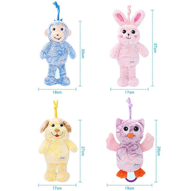 Round Soothing Pull String Rattle Musical Plush Toys