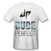 2017 men's YouTube Dude Perfect DP Logo fashion funny custom Print Slim Fit T Shirt Top quality cotton Tops Tees