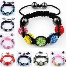 Children Jewelry Multi Color Charm Beads Bracelets Baby Kids Shamballa Bracelet Crystal Braided Bracelet Bangle Christmas Gifts