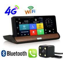 Udricare 7 inch 4G 3G SIM Card WiFi Bluetooth Android GPS Navigation DVR Dual Lens Video Recorder Rear View Camera 1G RAM GPS(China)