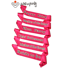 50pcs wholesale pink hen party sash purple ribbon team bride to be bridesmaid gift hens night wedding event fun mariage(China)