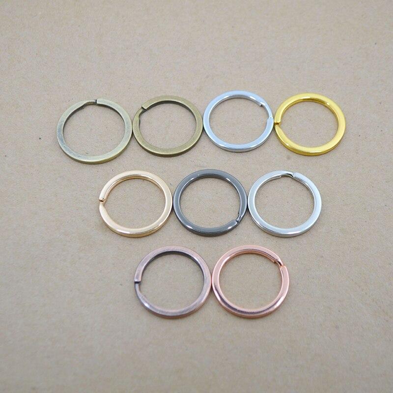 20pcs Keyring Brass Key Chain Findings Split Rings DIY Jewelry Crafts 10mm