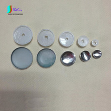 Wholesale White Plastic Covered Cloth Button Bottom,DIY Button Accessory Bare Buckle,11 Size for Choice S0186H
