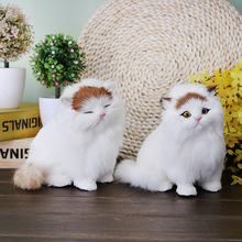 Lovely Simulation Stuffed Plush Cats Dog Toys Soft Cute Plush Toys Kids Gift Home Decoration Crafts Figurines&Miniatures Toy(China)