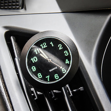 Car-Styling Quartz Clock Car Decoration Ornaments Vehicle Auto Interior Watch Digital Pointer Air Conditioning Outlet Clip(China)