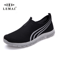 LEMAI 2017 Unisex Lover Shoes Summer Casual Men Shoe Breathable Network Shoes man Slip On Flats For Man Loafers 35-46