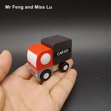 Mini Cargo Truck Wooden Model Toys With Small Wheels Best Gifts For Kids