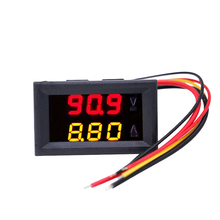 "200pcs/lot 100V/10A LED Red/yellow 0.28"" Dual Display Tester Car Digital Electrical Ammeter Voltmeter Ampere Voltage Meter 20%(China)"