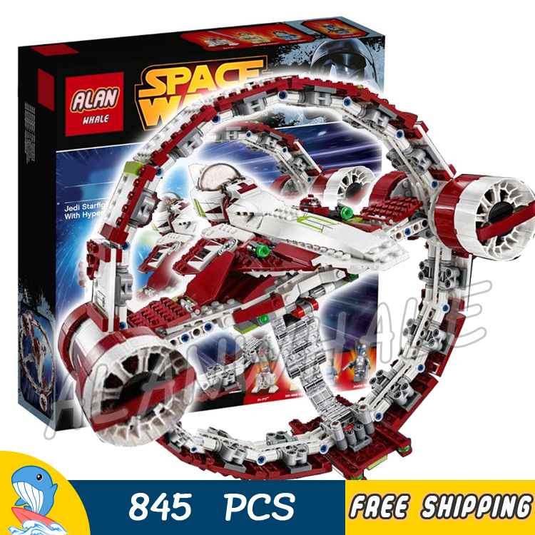 845pcs New Space Wars Jedi Starfighter with Hyperdrive Set 05121 Model Building Blocks Assemble Toys Bricks Compatible With Lego<br>