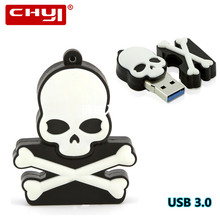 Cool Skeleton USB Flash Drive 32GB 16GB 8GB 64GB USB Flash Drive Download Memory Stick U Disk High Speed Pendrive Halloween Gift(China)